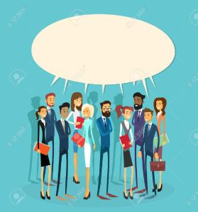 47913661-Business-People-Group-Chat-Communication-Bubble-Concept-Businesspeople-Talking-Discussing-Communicat-Stock-Vector